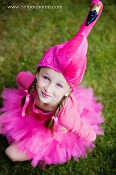 Paige wants to be a Flamingo for Halloween- Pink Flamingo Costume by CowboysAndCrowns on Etsy, $40.00