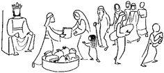 Annie Vallotton - Good News Bible Bible Cartoon, Good News Bible, Bible Drawing, Bible Images, Work Pictures, Bible Illustrations, Journaling, Religion, Simple Illustration