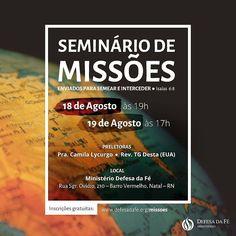 Inscrições gratuitas: http://ift.tt/2uXZ1FB  #missions #missões #evangelismo #bíblia #igreja #seminário #seminary