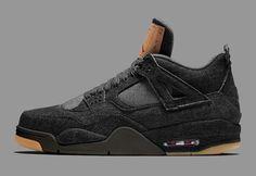 "Levi's x Air Jordan 4 ""Black"""