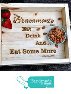 Brown Home Decor, Dealing With A Narcissist, Ottoman Tray, Bridal Shower Gifts, Engagement Gifts, Custom Engraving, House Warming, Anniversary Gifts, Farmhouse