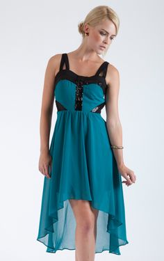 Chiffon High-Low Day Dress  It's a beautiful dress it would be perfect for a date