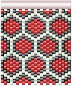 Peyote stitch patterns suitable for cuff bracelet, tealight cover etc Peyote Beading Patterns, Peyote Stitch Patterns, Beaded Earrings Patterns, Seed Bead Patterns, Loom Beading, Mochila Crochet, Tapestry Crochet Patterns, Motifs Perler, Bead Loom Bracelets