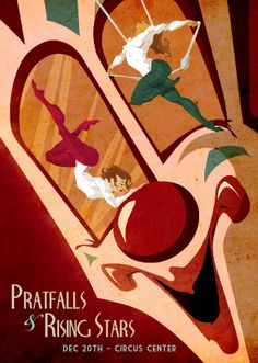 Illustration | The Art of Lyla Warren #circus #aerialist #acrobat #poster #design