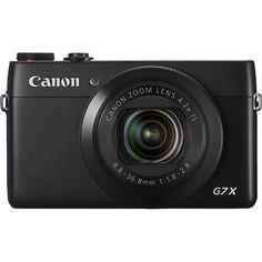 Canon - PowerShot G7 X 20.2-Megapixel Digital Camera - Black - Larger Front