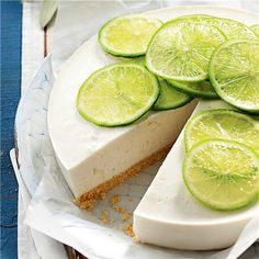 Dessert Recipes & Ideas | Woolworths Lime Cheesecake, Cheesecake Recipes, Gourmet Recipes, Cooking Recipes, Healthy Recipes, Summer Dessert Recipes, Eat Seasonal, How Sweet Eats, Food Print