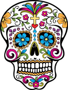 Items similar to mexican sugar skull sticker on Etsy Sugar Skull Tattoos, Sugar Skull Art, Sugar Skulls, Sugar Skull Painting, Sugar Skull Pumpkin, Sugar Tattoo, Candy Skulls, Mexican Skulls, Mexican Art