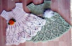 Resultado de imagem para vestido de croche para batizado com grafico