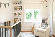 Modern Neutral Nursery - smart use of a small space!