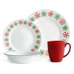 Corelle Livingware Classic Cafe Red 16 Piece Dinnerware Set I Want