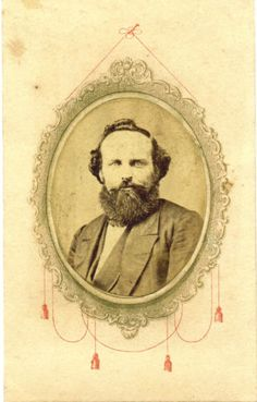 An original Civil War carte de visite [CDV] photograph of a bearded fellow identified in pencil on reverse as Alonzo Walker of Iowa City, Iowa, who enlisted in April, 1861, in the First Iowa Infantry. This photograph was taken by A.Sheen, whose back stamp identifies him as the photographer of the First Iowa Infantry.....Alonzo Walker was listed as missing in the Battle of Wilson's Creek, Missouri, in August 1861.