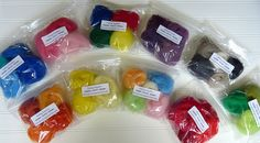 Felting wool colors wet felting needle felting by PreciousGems, $2.00