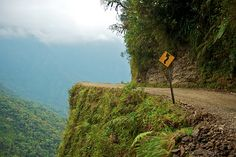 North Yungas Road, Bolivia - never ever drive here. Machu Picchu, Bolivia, Tropical Savanna Climate, Cool Places To Visit, Places To Travel, Yungas Road, Peru, Visit Brazil, Dangerous Roads