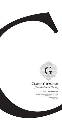 Claude Garamond Poster by Spencer Elizabeth Karczewski, via Behance