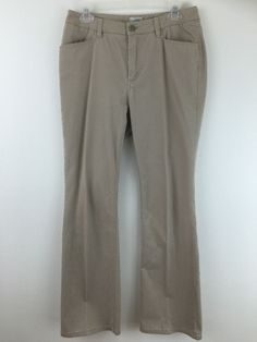 Chicos 0.5 Corduroy Pants Beige 4 Pocket Stretch Cotton Bootcut Flare 6 8 S M #Chicos #CasualPants