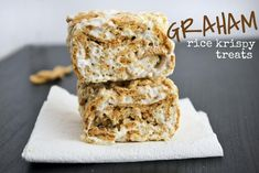 Mallow and Co: Graham Rice Krispy Treats