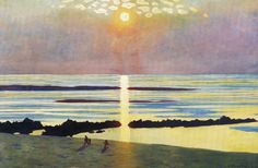 ☼ Painterly Landscape Escape ☼ landscape painting by Felix Vallotton