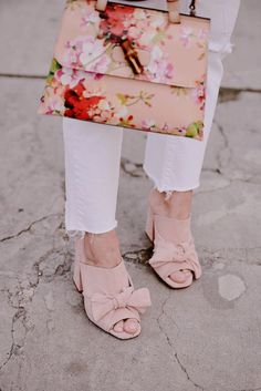 What We Did at Mother's Day: Gucci Floral Bag & Zara Bow mules