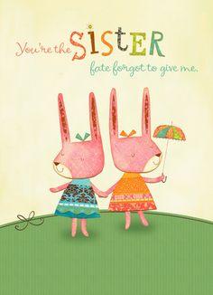Fate Sister Friendship Card