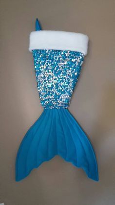 This whimiscal stocking comes in the shape of a mermaid tail. It will make a unique item for Christmas or anytime for anyone who loves the magic