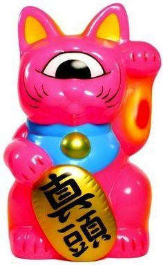 plastickaiju: Name: Platform: Fortune CatArtist: Mori KatsuraManufacturer: RealxHeadMaterial: Vinyl Vinyl Toys, Vinyl Art, Maneki Neko, Designer Toys, Anime Figures, Vinyl Figures, Cat Art, Art Inspo, Character Design