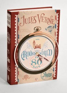 Jules Verne cover designs by Jim Tierney from Jim Tierney on Vimeo. This series of Jules Verne novels designed by Jim. Jules Verne, Cool Books, I Love Books, My Books, Book Cover Design, Book Design, Book Clock, Around The World In 80 Days, Beautiful Book Covers