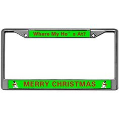 Screw Caps RIDING A HORSE Black Metal License Plate Frame HAPPINESS IS..