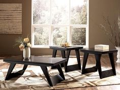 Ashley Signature Emory Living Room Furniture #Ashleyfurniture #Emory #Modern #LivingRoom #Tables #Furniture #Design #Thriftytrendzbyjuls
