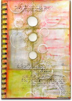 Love the way color is structured & applied on this page. Artist Maria Mija Comstad. #art #journal