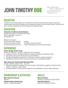 color in a resume