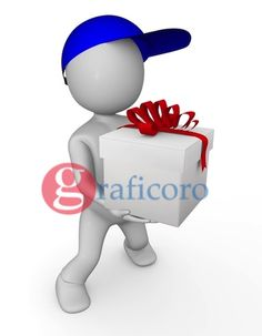 3d man with gift / www.graficoro.com