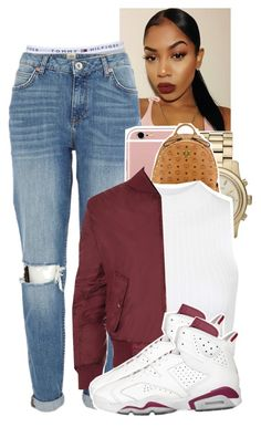 """Untitled #1221"" by tonibalogni ❤ liked on Polyvore featuring Topshop, River Island, Michael Kors, MCM and WearAll"