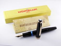 "Vintage ""Montblanc 264"" Fountain Pen-Black PIston Filler-14K F Nib-Germany 1950s #Montblanc"