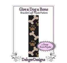 Give a Dog a Bone  Beaded Peyote Bracelet by FUNPATTERNDESIGNS