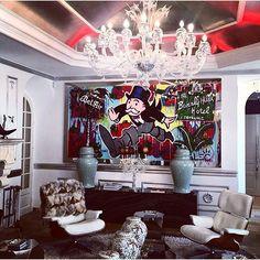 #PhilippPlein #LaJungleDuRoi cannes mansion featuring @alecmonopoly art work 💲