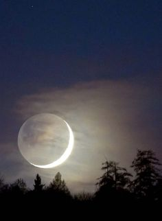 images of the new moon | day after the new moon as Earth's closest astronomical neighbor ...
