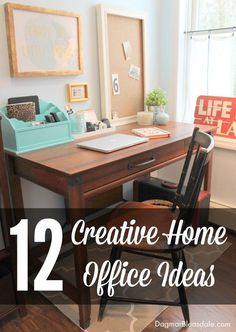 Spruce up your home office this spring - get inspired by these stunning offices! Dagmar's Home. DagmarBleasdale.com. #office #homeoffice #WAHM #creativity #DIY #interiordesign #design