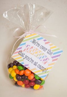Girls Camp Pillow Treat Handout Skittles Instant by HappyCoPrints, $2.00