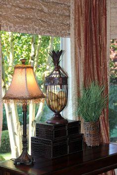 Savvy Seasons by Liz: Our Tuscan Living Room Tuscan Living Rooms, Living Room Decor, Dining Room, Tuscan Decorating, Decorating Ideas, Decor Ideas, Accent Table Decor, Tuscany Decor, Tuscan Style