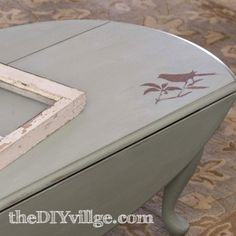 Bird Stencil Coffee Table