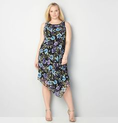 Treat yourself to new looks for spring like this plus size Floral Asymmetrical Dress available in sizes 14-32 online at avenue.com. Avenue Store