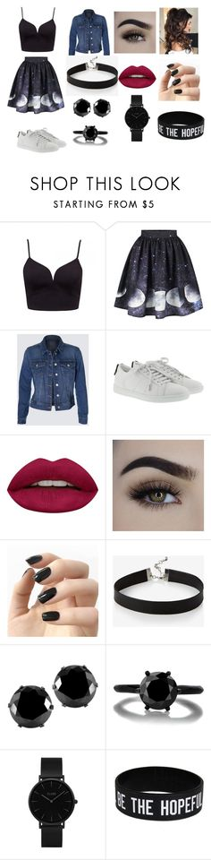 """Moon Chic"" by jazmin-hernandez-3 on Polyvore featuring moda, Yves Saint Laurent, Huda Beauty, Incoco, Express, West Coast Jewelry y CLUSE"