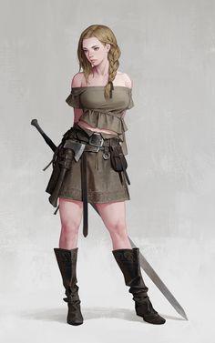 Viking Girl, dongho Kang on ArtStation at https://www.artstation.com/artwork/5rEq1