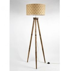 This is a very cool and exciting source of Floor Lamp! Totally unique. It has been finished in a wooden Tripod base that really makes it look very realistic. It coordinates beautifully with wooden stand. This beautiful handmade shade is artfully created with a Hand-loom fabric and beautiful design. The floor lamp is instantly ready to plug into any outlet. It look nice in the bedroom or in the living room