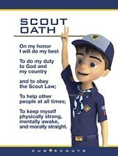 "Perfect for displaying at your Cub Scouts' regular meeting place, this set of three posters helps them keep an eye on the essentials! Designs feature the new Cub Scout mentor ""Ethan"". Cub Scout Oath, Boy Scout Law, Cub Scouts Wolf, Tiger Scouts, Scout Mom, Scout Leader, Eagle Scout, Girl Scouts, Cub Scout Activities"