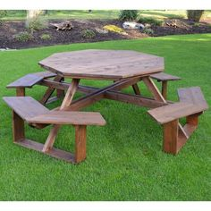 26 top octagon picnic table images carpentry woodworking do it rh pinterest com