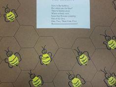 Bumblebee fingerprints... Use hexgon shapes to make the honeycomb.