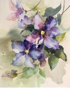Watercolor Painting Techniques, Watercolor Artwork, Watercolor Landscape, Watercolor And Ink, Watercolor Flowers, Painting Inspiration, Flower Art, Watercolors, Tattoo Sketches