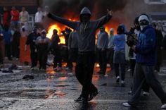 photos of belfast riots | in belfast ireland injuring 32 members of law enforcement