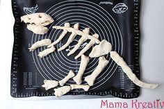 dinosaurier knochen aus salzteig selber machen
